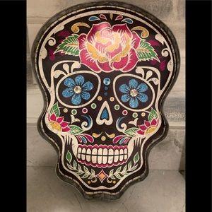 Light Up Sugar Skull Wall Decor